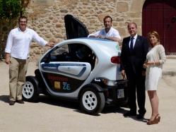 El Presidented e Extremadura y la Alcaldesa de Cáceres con Geocyl